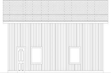 1-Bedroom, 1200 Sq Ft Garage House Plan - 145-1937 - Front Exterior