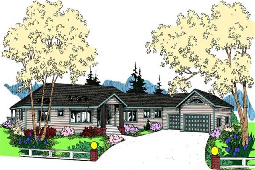 2-Bedroom, 2125 Sq Ft Contemporary House Plan - 145-1940 - Front Exterior