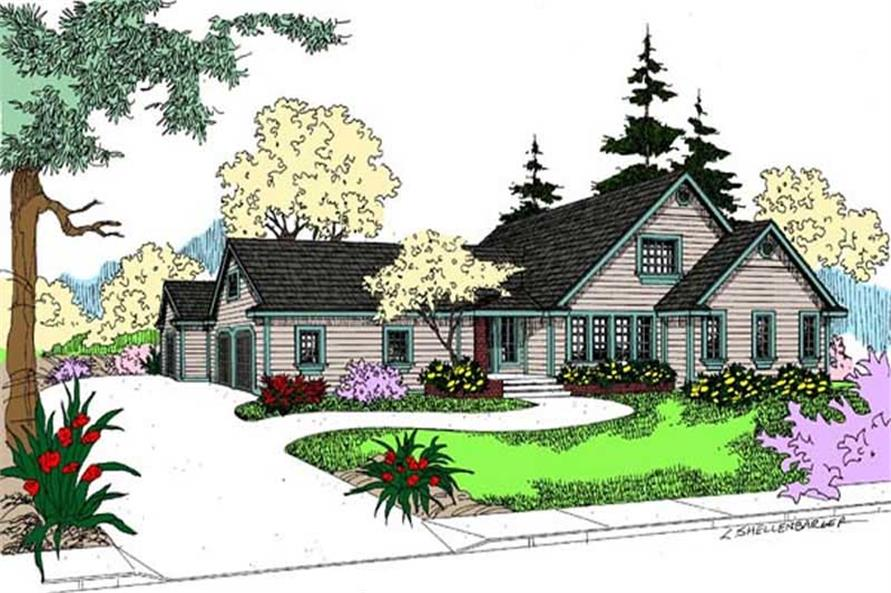 Main image for house plan # 9105