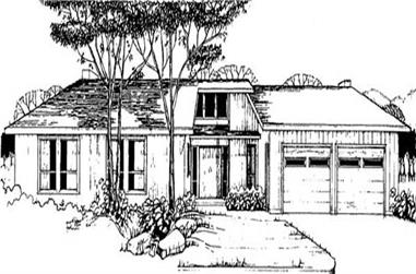 4-Bedroom, 2066 Sq Ft Contemporary Home Plan - 145-1943 - Main Exterior