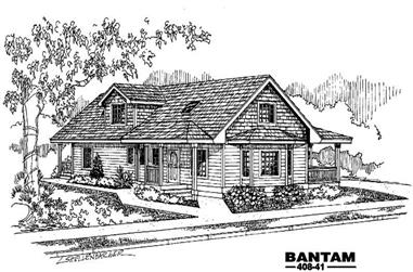 3-Bedroom, 2969 Sq Ft Country Home Plan - 145-1945 - Main Exterior