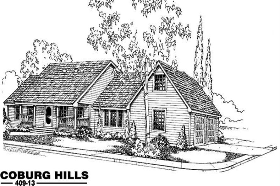 3-Bedroom, 3019 Sq Ft Country Home Plan - 145-1946 - Main Exterior