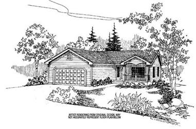 3-Bedroom, 1921 Sq Ft Country Home Plan - 145-1947 - Main Exterior