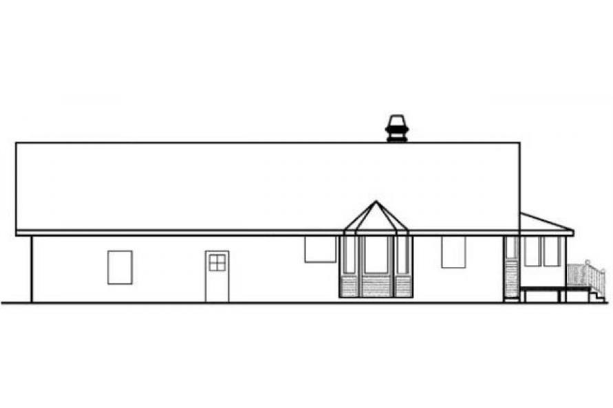 Home Plan Rear Elevation of this 2-Bedroom,1556 Sq Ft Plan -145-1948