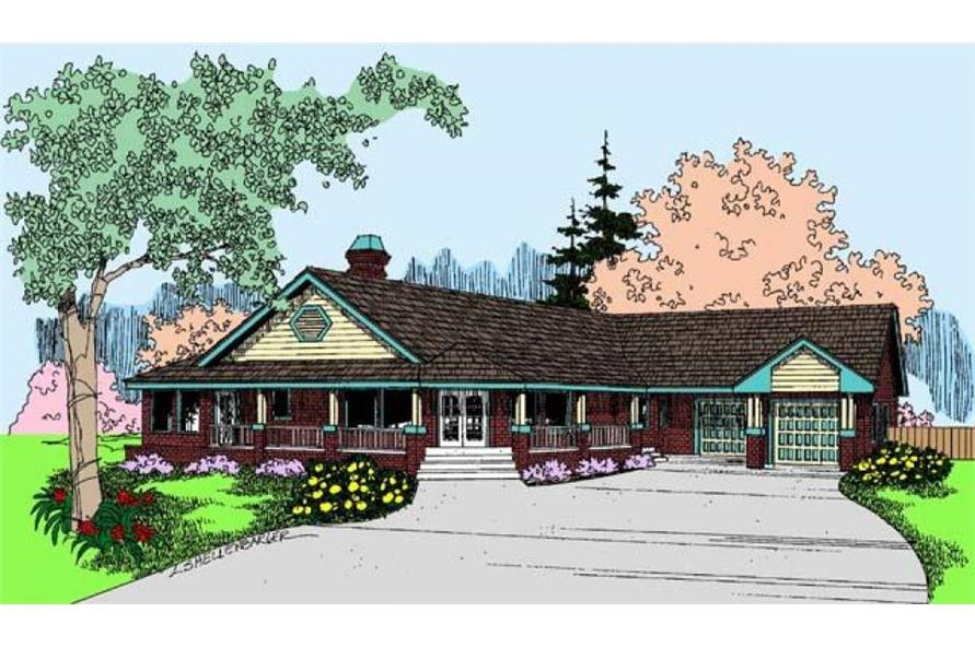 2-Bedroom, 1556 Sq Ft Contemporary Home Plan - 145-1948 - Main Exterior