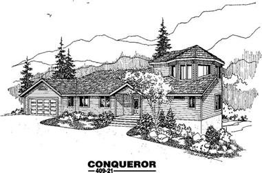 4-Bedroom, 2139 Sq Ft Contemporary Home Plan - 145-1949 - Main Exterior
