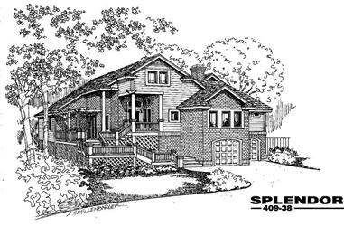3-Bedroom, 2762 Sq Ft Home Plan - 145-1952 - Main Exterior