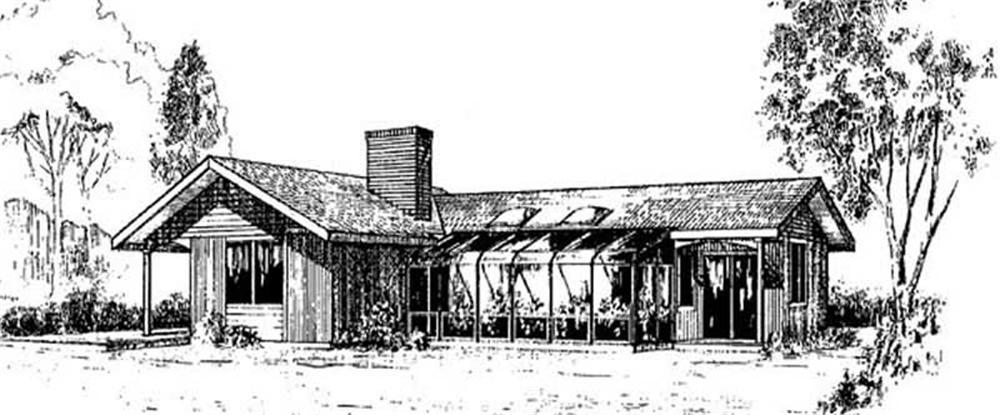 Contemporary home (ThePlanCollection: Plan #145-1953)