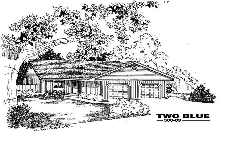 6-Bedroom, 2288 Sq Ft Multi-Unit Home Plan - 145-1955 - Main Exterior