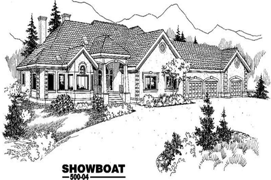 Main image for house plan # 9045