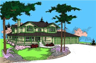 4-Bedroom, 3562 Sq Ft Ranch Home Plan - 145-1957 - Main Exterior