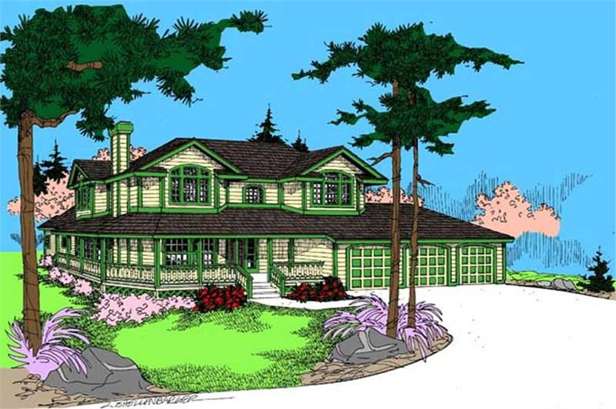 Main image for house plan # 9044