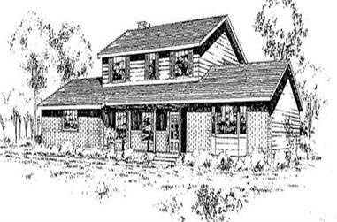 4-Bedroom, 2370 Sq Ft Ranch Home Plan - 145-1958 - Main Exterior