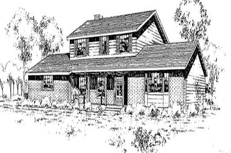 Ranch home (ThePlanCollection: Plan #145-1958)