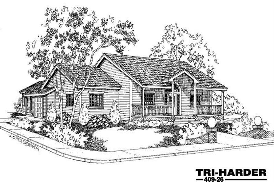 Main image for house plan # 9057