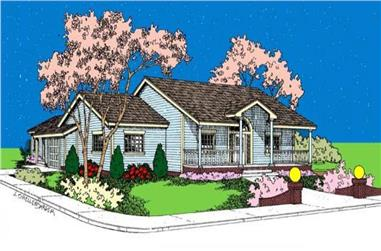 3-Bedroom, 1890 Sq Ft Country Home Plan - 145-1961 - Main Exterior