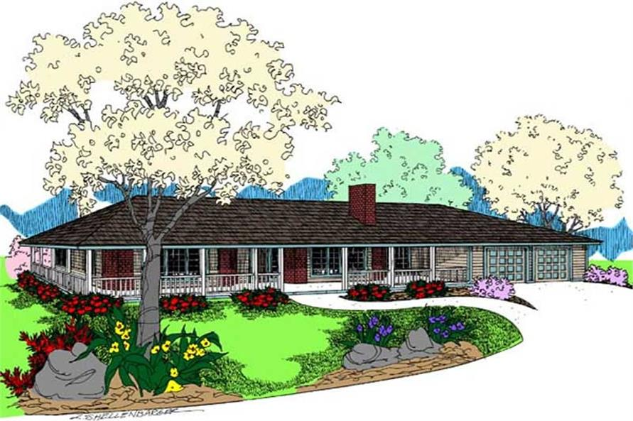 Main image for house plan # 9102
