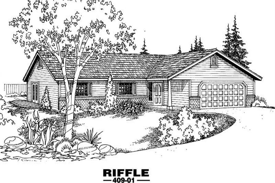 Main image for house plan # 9073