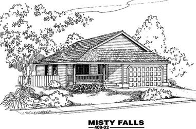 3-Bedroom, 1034 Sq Ft Craftsman Home Plan - 145-1968 - Main Exterior