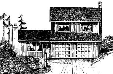 3-Bedroom, 1929 Sq Ft Traditional Home Plan - 145-1973 - Main Exterior