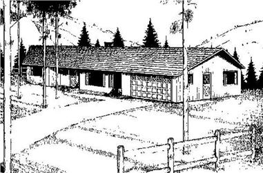 4-Bedroom, 2230 Sq Ft Country Home Plan - 145-1975 - Main Exterior