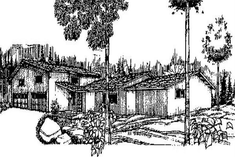 3-Bedroom, 1653 Sq Ft Contemporary Home Plan - 145-1977 - Main Exterior