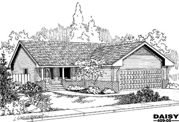 Main image for house plan # 9071