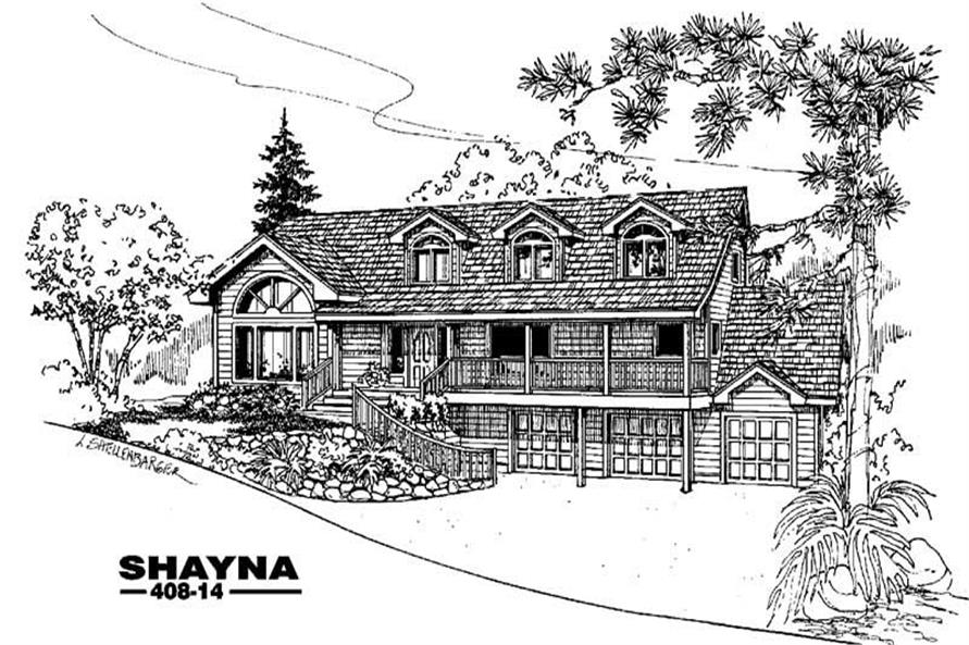 Main image for house plan # 9085