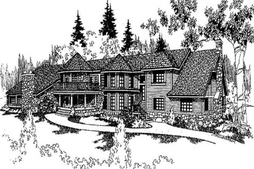 7-Bedroom, 10213 Sq Ft Contemporary Home Plan - 145-1987 - Main Exterior