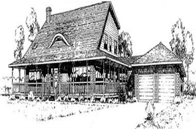 3-Bedroom, 2992 Sq Ft Ranch Home Plan - 145-1989 - Main Exterior