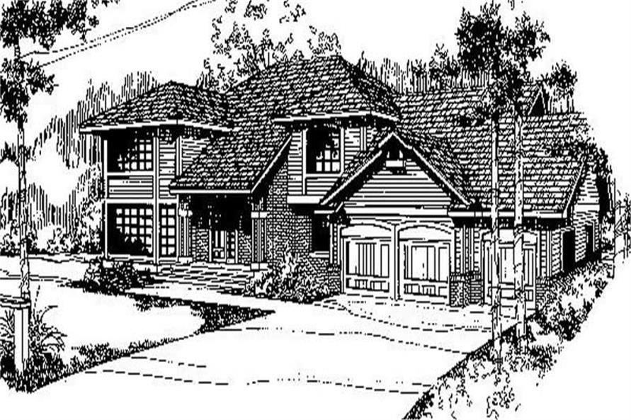 5-Bedroom, 3434 Sq Ft Contemporary Home Plan - 145-1990 - Main Exterior