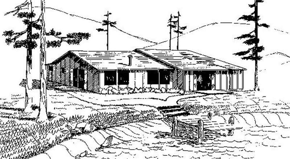 Small House Plans home (ThePlanCollection: Plan #145-1993)