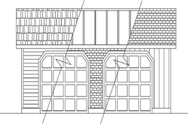 1-Bedroom, 1088 Sq Ft Garage House Plan - 145-1998 - Front Exterior