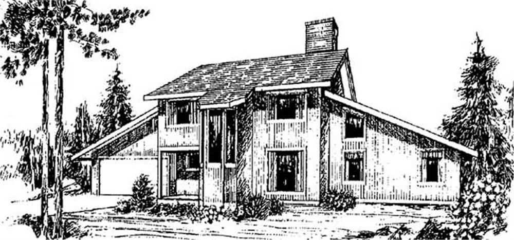 Contemporary home (ThePlanCollection: Plan #145-1999)