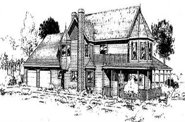 3-Bedroom, 3083 Sq Ft Victorian Home Plan - 145-2002 - Main Exterior