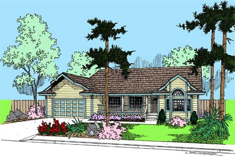 Main image for house plan # 9099