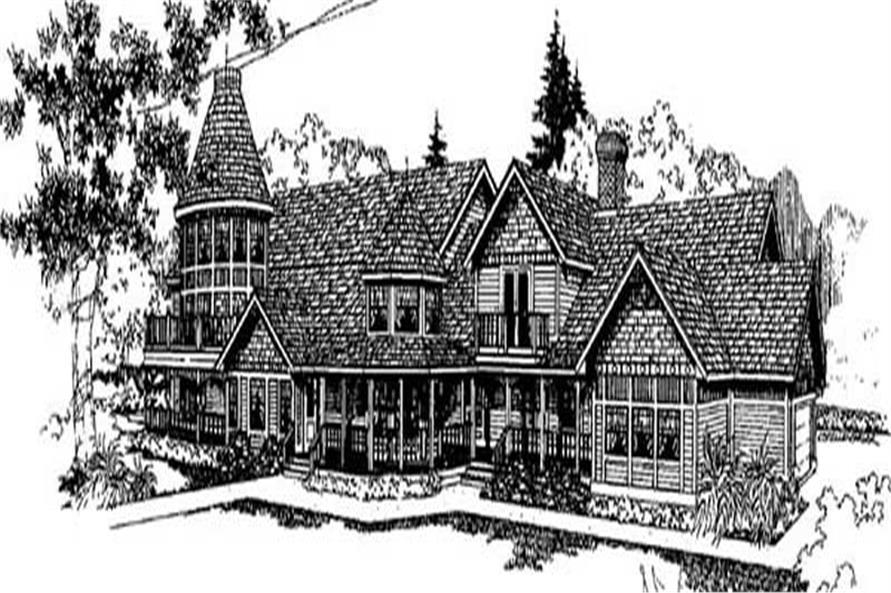 6-Bedroom, 4609 Sq Ft Luxury Home Plan - 145-2007 - Main Exterior