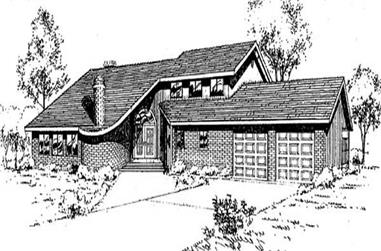 3-Bedroom, 2472 Sq Ft Contemporary House Plan - 145-2008 - Front Exterior