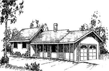 3-Bedroom, 2072 Sq Ft Ranch Home Plan - 145-2011 - Main Exterior