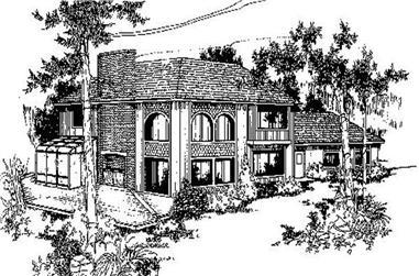 3-Bedroom, 2543 Sq Ft Mediterranean Home Plan - 145-2013 - Main Exterior
