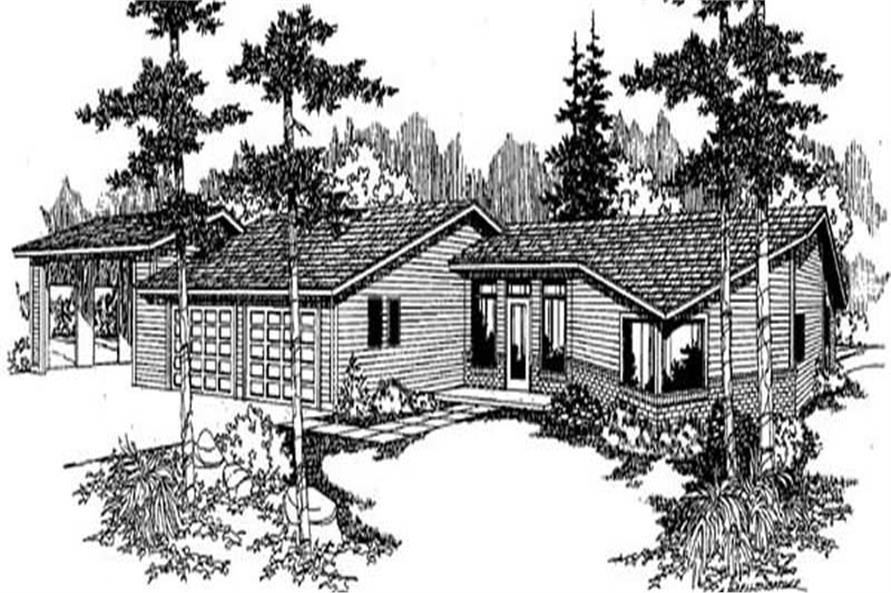 Main image for house plan # 9001