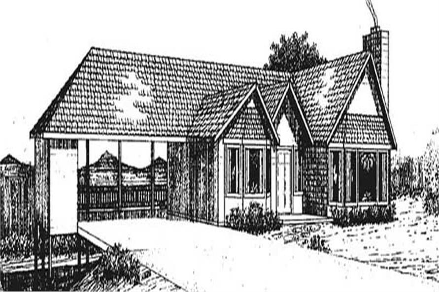 3-Bedroom, 1550 Sq Ft Vacation Homes House Plan - 145-2016 - Front Exterior