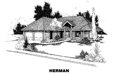 4-Bedroom, 3275 Sq Ft House Plan - 145-2018 - Front Exterior