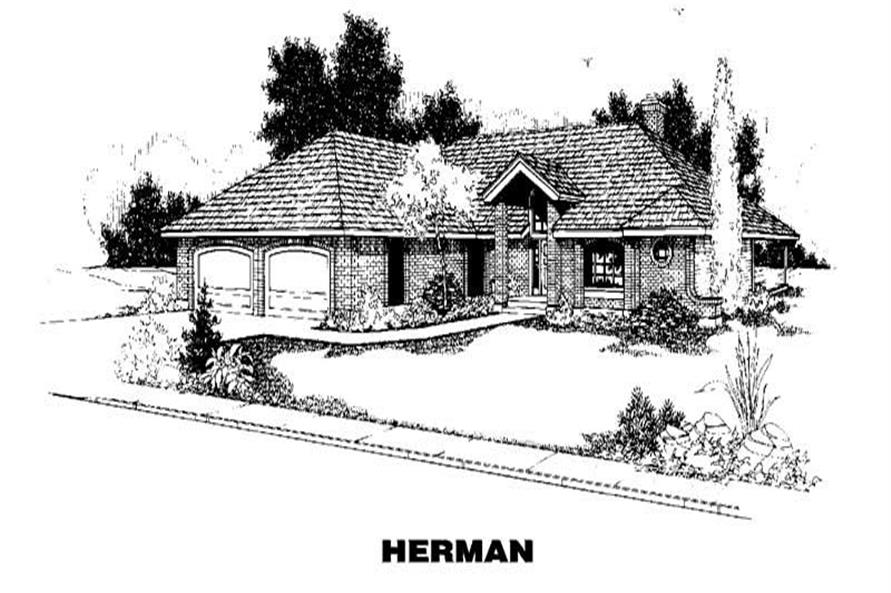 Main image for house plan # 9114