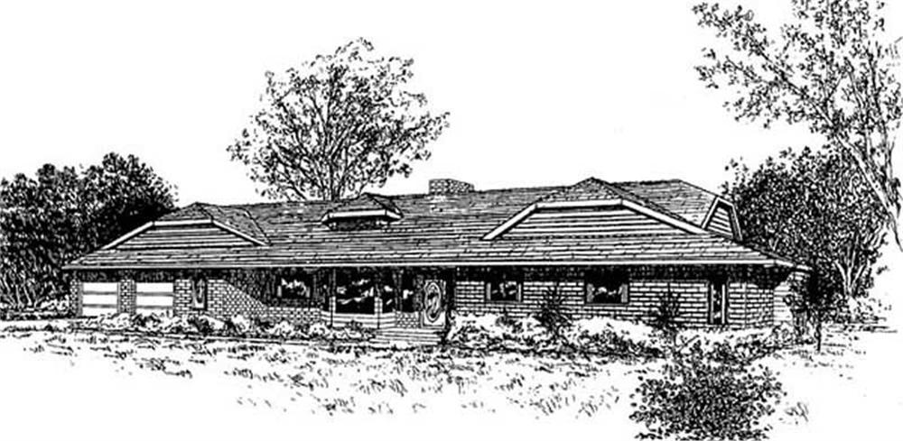 Contemporary home (ThePlanCollection: Plan #145-2021)