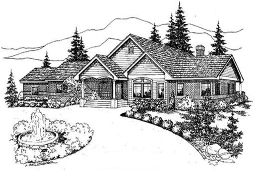 Main image for house plan # 9086