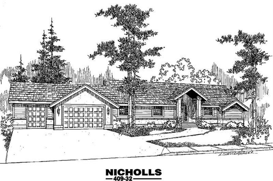 4-Bedroom, 1981 Sq Ft Contemporary Home Plan - 145-2028 - Main Exterior