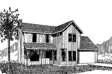 3-Bedroom, 1445 Sq Ft Contemporary Home Plan - 145-2029 - Main Exterior