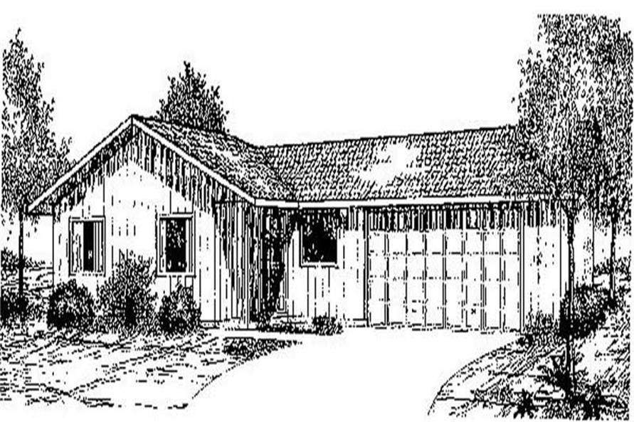 3-Bedroom, 963 Sq Ft Small House Plans - 145-2031 - Front Exterior