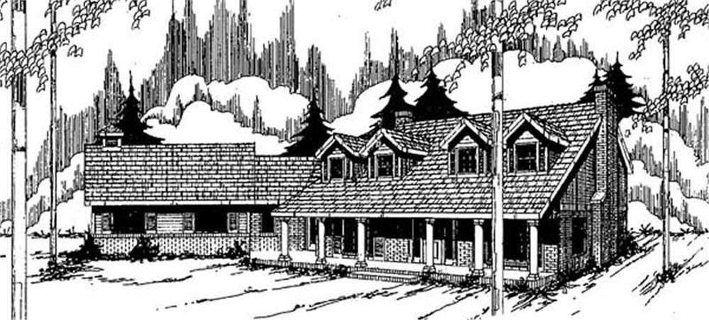 Farmhouse home (ThePlanCollection: Plan #145-2032)